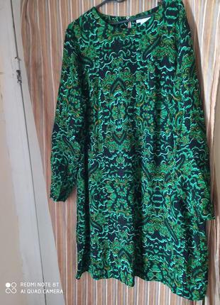 Hm лёгкое воздушное платье из 💯 вискозы р.52-54