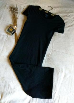 Базовое платье-футболка, базовое платье миди