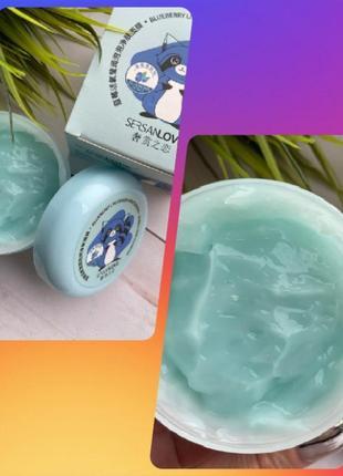 Очищающая маска sersanlove blueberry bubble mask . обогащенная кислородом с экстрактом черники 100 g*