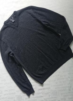 Базовый шерстяной свитер h&m/теплый пуловер из шерсти
