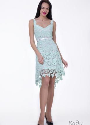 Нарядное платье, сарафан, angel provocation кади, свадебное, с гипюром.