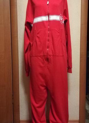 Теплая пижама на большой рост ,домашний теплый комбинезон  made in egypt