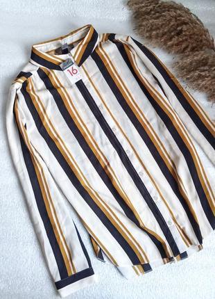 💢трендова рубашка  в полоску із закругленим низом 💢