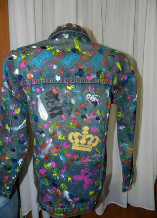 Яркий джинсовый пиджак куртка  denim co
