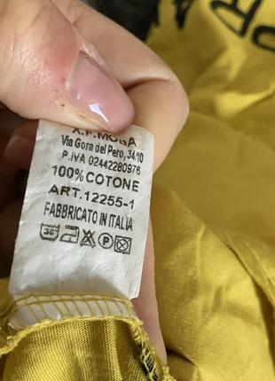 Фирменное котоновое желтое платье2 фото