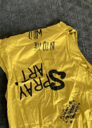Фирменное котоновое желтое платье3 фото