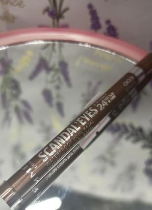 Олівець для очей rimmel scandaleyes waterproof коричневий  источник: