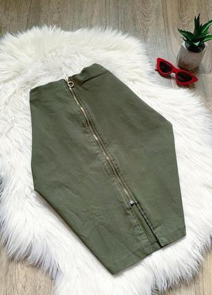 Классическая юбка-миди с молнией по фигуре 😍