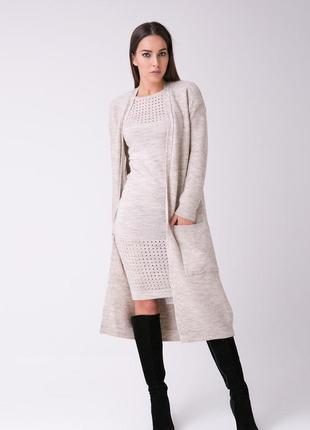 Пальто-халат вязаное (42-44,46-48 р.)