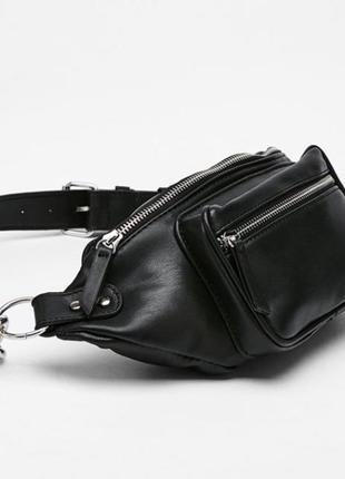 Бананка черная сумка на пояс