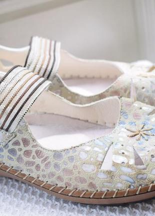 Кожаные туфли мокасины балетки сандали rieker р.42 27 см