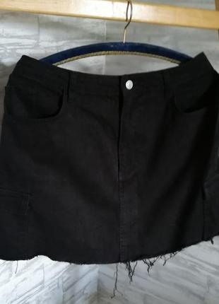 Джинсовая юбка карго