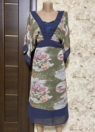 Оригинальное натуральное платье,а-ля кимоно,вискоза bon-a-porte