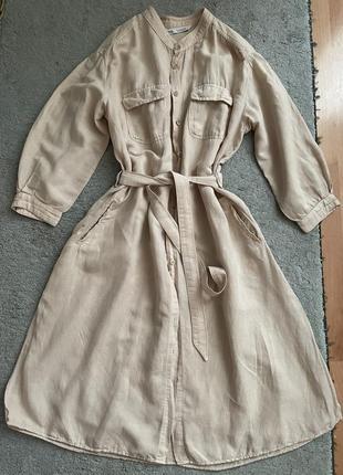 Льняное платье/халат zara