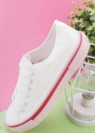 Новые женские стильные белые кеды летние4 фото