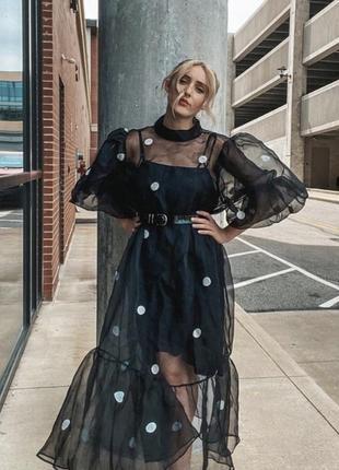 Платье органза h&m xs-s