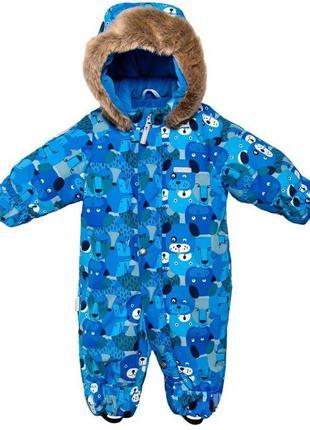 Детский зимний самый тёплый комбинезон lenne ленне zоо 17306 6900 68р - 86р