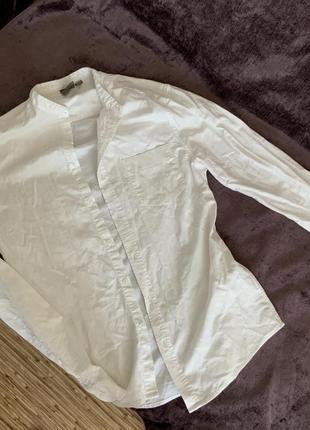 Белая фирменная рубашка asos asos