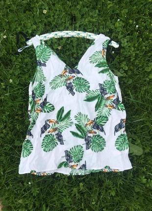 Якісна натуральна літня лляна блуза блузка кофта