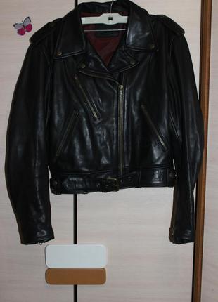 Супер стильна шкіряна куртка косуха байкерська uvex