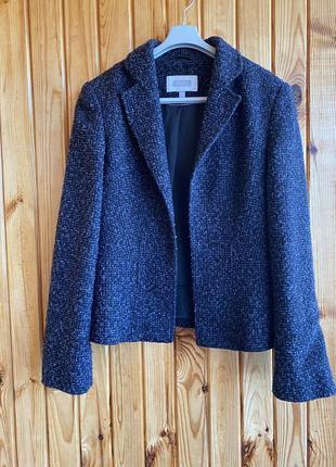 Твидовый женский пиджак next