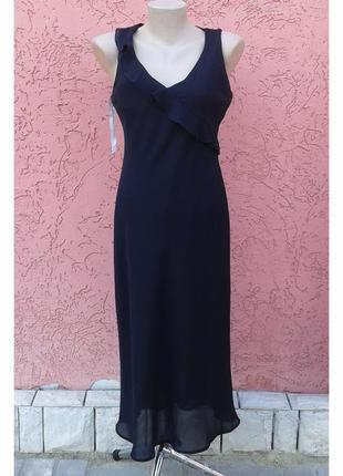 Двухслойное черное вечернее платье миди atmosphere