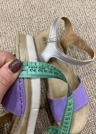 Босоножки сандали на танкетке кожа7 фото