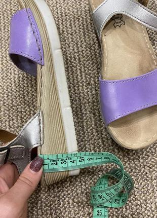 Босоножки сандали на танкетке кожа6 фото