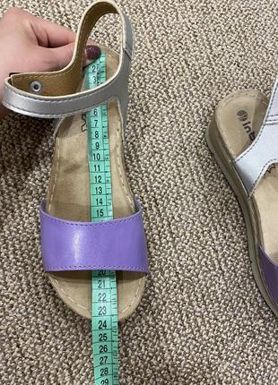 Босоножки сандали на танкетке кожа5 фото