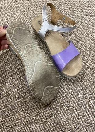 Босоножки сандали на танкетке кожа4 фото