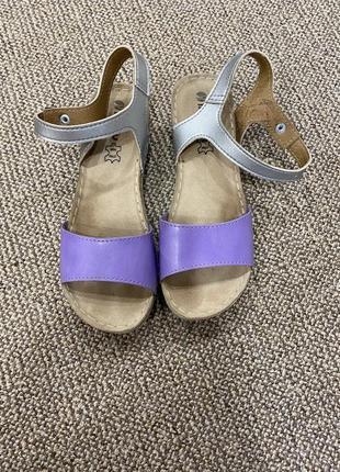 Босоножки сандали на танкетке кожа3 фото