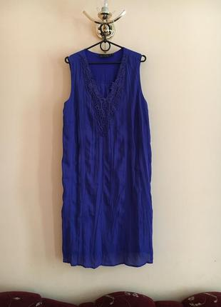 Батал большой размер стильное летнее платье платьице плаття сукня синее темное