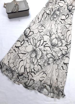 Винтажное шелковое платье миди, по косой, m,l2 фото