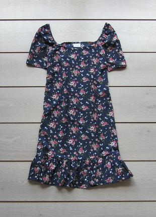 Милое легкое платье с оборками в цветочный принт от vila clothes