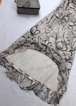 Винтажное шелковое платье миди, по косой, m,l5 фото