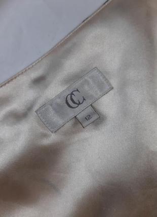 Винтажное шелковое платье миди, по косой, m,l6 фото