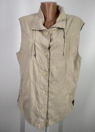 Жіноча легка  безрукавка на ґудзиках розмір  46 (е-101)