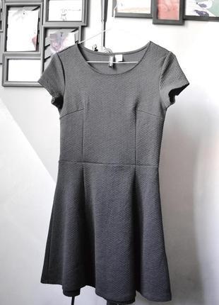 Базовое платье из фактурной ткани h&m