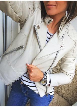 Натуральная дизайнерская кожаная куртка - косуха river island, подиумный экземпляр