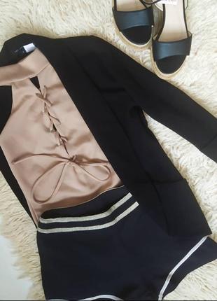 🖤🤎 крутий образ🖤🤎 піджак/боді/шорти/босоніжки🖤🤎
