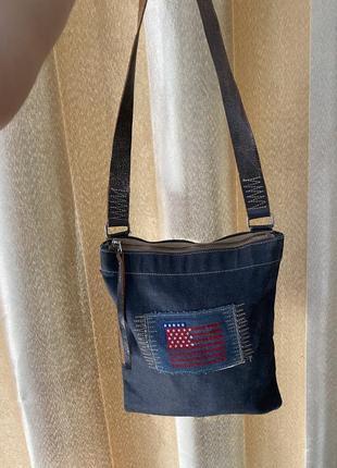 Джинсовая сумка ,сумка шопер