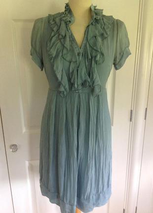 Шифоновое прозрачное платье, шелк, phase eight, 48 р