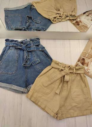 Джинсовые шорты в стиле винтаж s,м,l