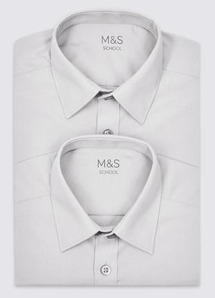 Серая рубашка marks&spenser(англия) на 12-15 лет