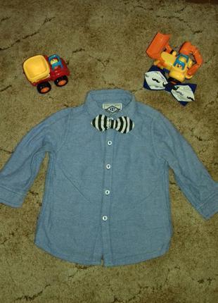 Рубашка из лёгкого джинса