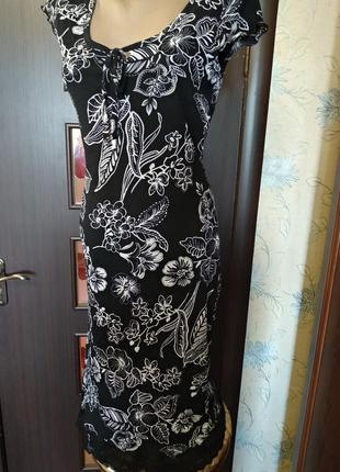 Красивое платье цветочный принт2 фото