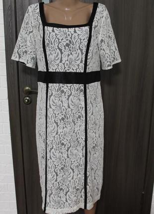 Кружевное платье berkertex в идеальном состоянии xl