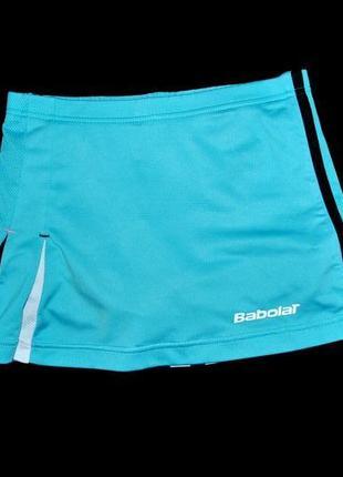 Юбка babolat теннисная для тенниса голубая xs s спортивная крутая шорты