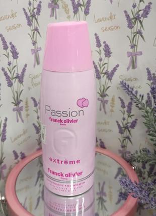 Franck olivier passion extreme парфумований дезодорант для жінок 250 мл