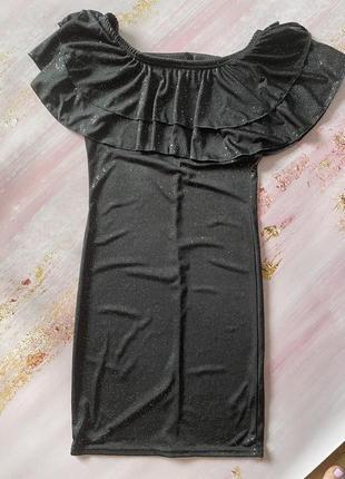 Плаття чорне з блискітками